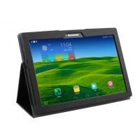 Чехол подставка с рамочной защитой текстура Золото для Lenovo Tab 2 A10-70/Tab 3 10 Business Черный