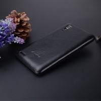 Кожаный чехол накладка серия Back Cover для Lenovo P780 Черный