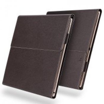 Нанотонкий 2мм кожаный чехол папка подставка с рамочной полузащитой экрана и подложкой для клавиатуры для Ipad Pro