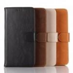 Винтажный чехол портмоне подставка на пластиковой основе с защелкой для Microsoft Lumia 950 XL