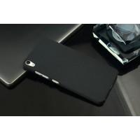 Пластиковый матовый чехол с повышенной шероховатостью для OnePlus X Черный