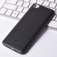 Силиконовый дизайнерский фигурный чехол текстура Кожа для Xiaomi MI5 Черный