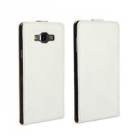 Чехол вертикальная книжка на пластиковой основе с магнитной застежкой для Samsung Galaxy A3 Белый