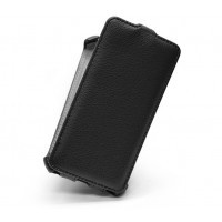 Кожаный чехол вертикальная книжка для Samsung Galaxy S6 Черный
