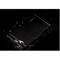 Пластиковый непрозрачный матовый чехол с текстурным покрытием Металл для Sony Xperia Z1 Compact Черный