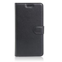 Чехол портмоне подставка на силиконовой основе на магнитной защелке для Asus ZenFone 3 5.5 Черный