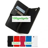 Чехол кожаный книжка портмоне горизонтальная для Sony Xperia Z