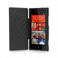 Чехол кожаный книжка горизонтальная (нат. кожа) для HTC Windows Phone 8X