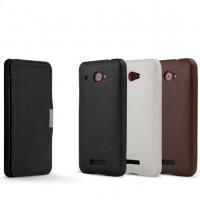 Чехол кожаный натуральный книжка горизонтальная для HTC Butterfly