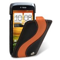 Чехол кожаный премиум книжка вертикальная (нат. кожа) для HTC One S Z520e
