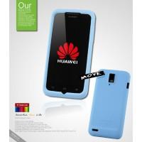 Силиконовый чехол премиум для Huawei Ascend D1 Голубой