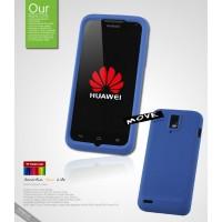 Силиконовый чехол премиум для Huawei Ascend D1 Синий