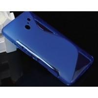Силиконовый чехол S полупрозрачный для Huawei Ascend D2 Синий