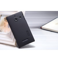 Пластиковый матовый чехол для Huawei Ascend W1 Черный