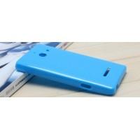 Силиконовый чехол для Huawei Ascend W1 Голубой