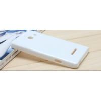 Силиконовый чехол для Huawei Ascend W1 Белый