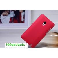 Пластиковый чехол матовый премиум для Meizu MX2 Красный