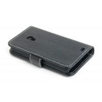 Кожаный чехол портмоне для Meizu MX2 Черный