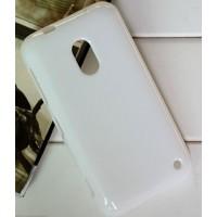 Силиконовый чехол для Nokia Lumia 620 Белый