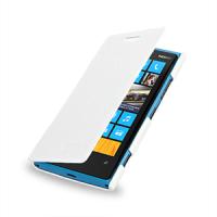 Чехол для Nokia Lumia 920 кожаный (нат. кожа) книжка горизонтальная Белый