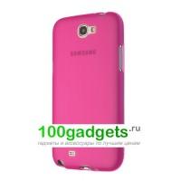 Силиконовый матовый полупрозрачный чехол для Samsung Galaxy Note 2 Пурпурный