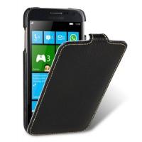 Чехол кожаный книжка вертикальная (нат. кожа) для Samsung Ativ S i8750