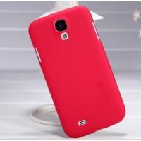 Пластиковый чехол матовый премиум для Samsung Galaxy S4 Красный