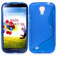 Силиконовый чехол S для Samsung Galaxy S4 Голубой