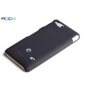 Чехол пластиковый матовый для Sony Xperia go Черный