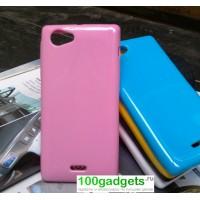 Чехол силиконовый для Sony Xperia J ST26i Розовый