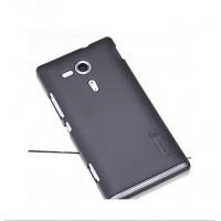 Пластиковый матовый премиум чехол для Sony Xperia SP Черный