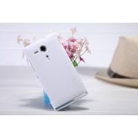 Пластиковый матовый премиум чехол для Sony Xperia SP Белый