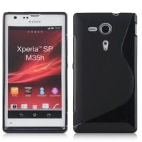 Силиконовый чехол S для Sony Xperia SP Черный