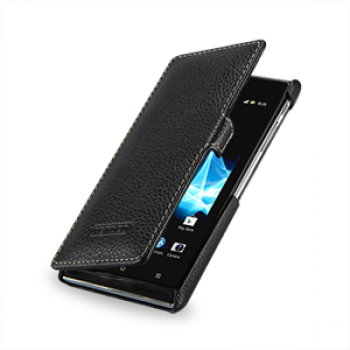 Чехол кожаный книжка горизонтальная (нат. кожа) для Sony Xperia J ST26i