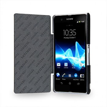 Кожаный чехол горизонтальная книжка (нат. кожа) для Sony Xperia Z