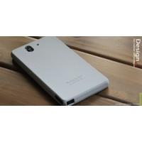 Силиконовый софт-тач премиум чехол для Sony Xperia Z Серый