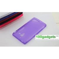 Чехол силиконовый S для Sony Xperia ZL Фиолетовый
