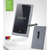 Чехол премиум для Nokia Lumia 920 силиконовый Серый