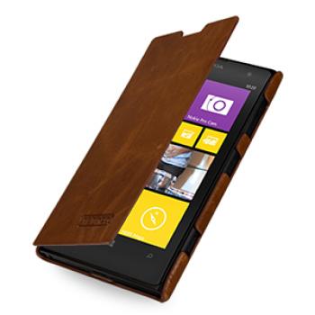 Кожаный эксклюзивный горизонтальный чехол ручной работы (цельная телячья кожа) для Nokia Lumia 1020