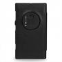 Кожаный чехол книжка горизонтальная (нат. кожа) для Nokia Lumia 1020