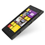 Кожаный чехол-накладка Back Cover (нат. кожа) для Nokia Lumia 1020 черная