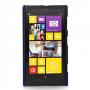 Кожаный чехол-накладка Back Cover (нат. кожа) для Nokia Lumia 1020 синяя