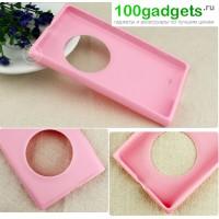 Силиконовый чехол для Nokia Lumia 1020 Розовый