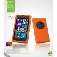 Силиконовый чехол премиум для Nokia Lumia 1020 Оранжевый