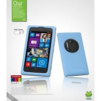 Силиконовый чехол премиум для Nokia Lumia 1020 Голубой