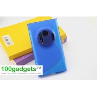Силиконовый чехол S для Nokia Lumia 1020 Голубой