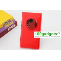 Силиконовый чехол S для Nokia Lumia 1020 Красный