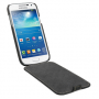 Вертикальная книжка (нат. кожа) для Samsung Galaxy S4 Mini черная