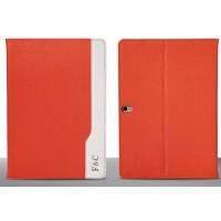 Кожаный чехол подставка серия D Color для Samsung Galaxy Tab Pro 10.1 Оранжевый