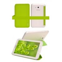 Текстурный чехол флип подставка сегментарный на полупрозрачной поликарбонатной основе для Samsung Galaxy Tab Pro 8.4 Зеленый